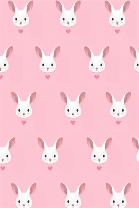 background tumblr pattern pink cutie little dimple lovely pink bunny pattern