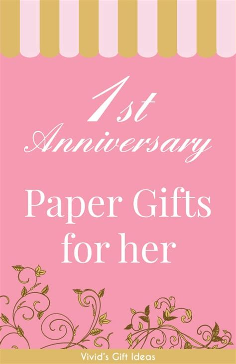 1st wedding anniversary gifts for her paper 18 paper anniversary gift ideas for her vivid s