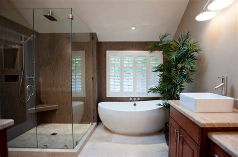 contemporary master bathrooms 10 rooms with indoor plants