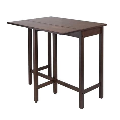 Walnut Space Saving Dining Table Winsome Lynnwood Drop Leaf High Dining Table Dining