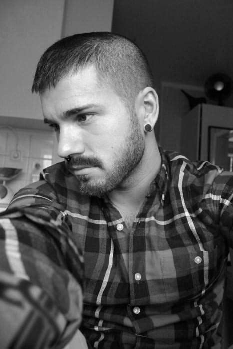 buzz cut hair  men   maintenance manly hairstyles