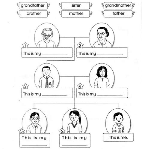 kindergarten activities my family 12 best my family images on pinterest families english