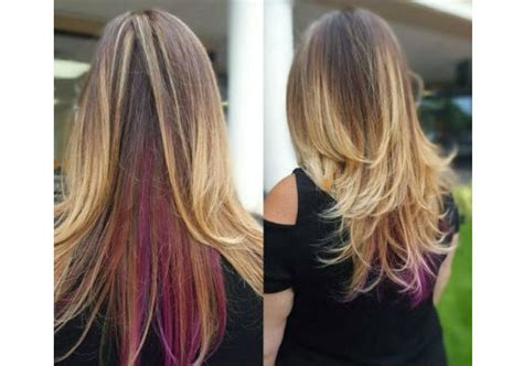 peek a boo hair color fall hair color the official of hair cuttery