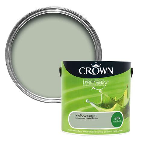 crown breatheasy mellow sage silk emulsion paint