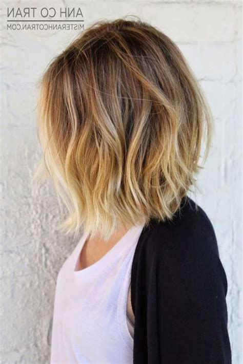 women s layered brunette a line lob with fringe bangs and highlights elegant long bob frisuren dickes haar archives top