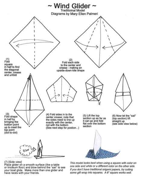 Origami Glider - april 2016 monthly feature origami page wind glider