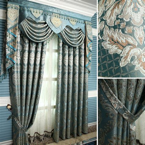 peacock blue curtains drapes free shipping 2014new quality fashion curtain peacock blue