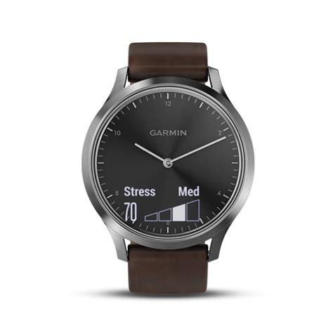 Garmin Vivomove Hr Premium Black Silver v 237 vomove hr wearables products garmin malaysia home