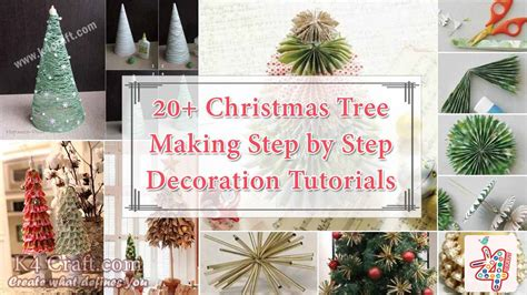 christmas decoration step by step tutrials 20 tree step by step tutorials k4 craft