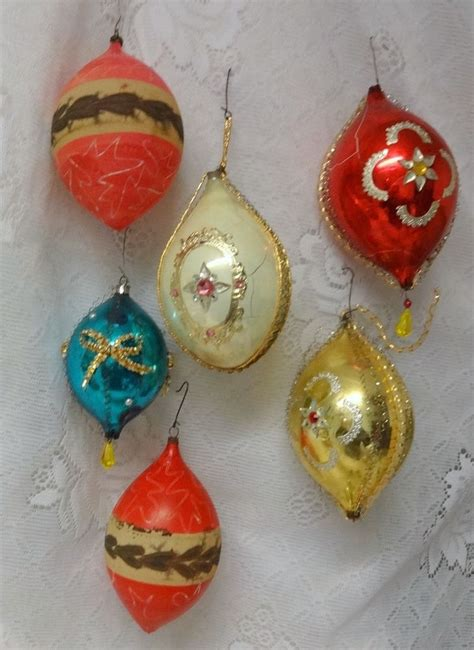 vintage tree ornaments antique germany wire wrap 6 glass