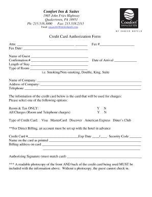 quality inn printable job application credit card authorization form pdf fillable templates