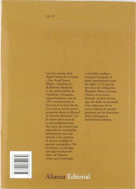 manual de historia medieval 8420649031 garc 237 a de cort 225 zar manual de historia medieval ed alianza lopez y ferro