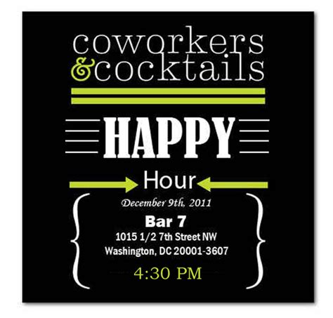 happy hour invitation template happy hour invite wording sles invitation templates