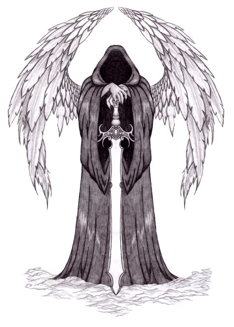 grey ink angel and black tattoos and designs page 419