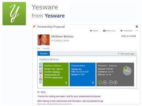 yesware outlook plugin 30 apps that improve microsoft office 2013 itworld