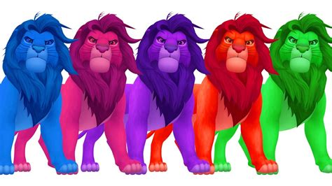 lions colors learn colors with king eggs colours for