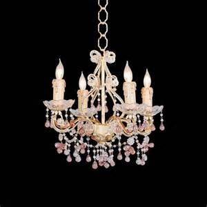 chandelier colored crystals country cottage annabella four light colored