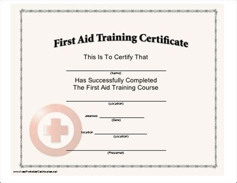 aid certificate template this certificate with a cross seal certifies the