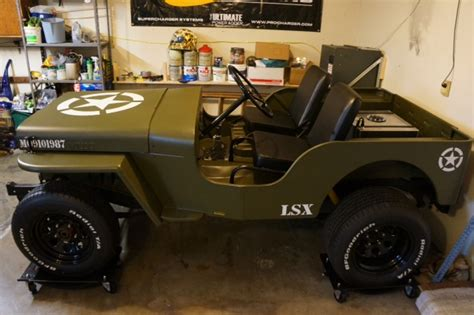 Jeep Ls Engine Insanity Ls1 Powered 1952 Willys Jeep Is A