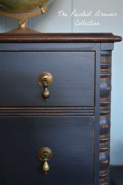 black chalk paint dresser home vintage chest of drawers painted black furniture vintage