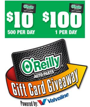 Oreillys Gift Card - o reilly auto parts gift card giveaway crazy for sles