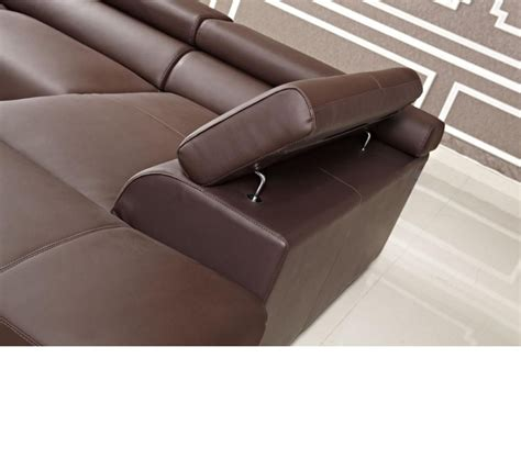 Modern Brown Leather Sofa Dreamfurniture Modern Brown Leather Sectional Sofa