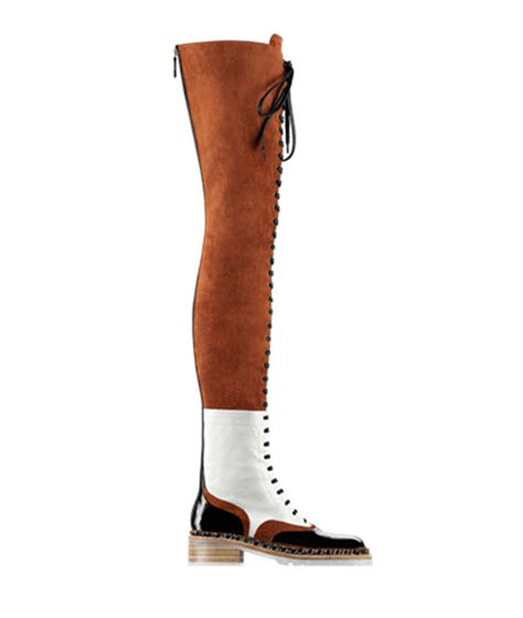designer brown suede leather lace up thigh high boots