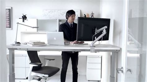 herman miller standing desk renew sit to stand youtube