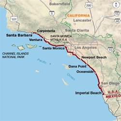 map of california coast pacific coast adventure cycling route network
