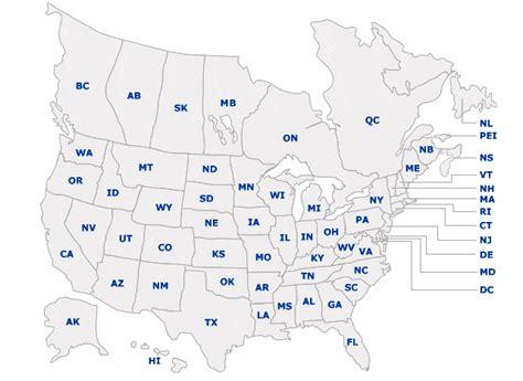 united states canada map distributors