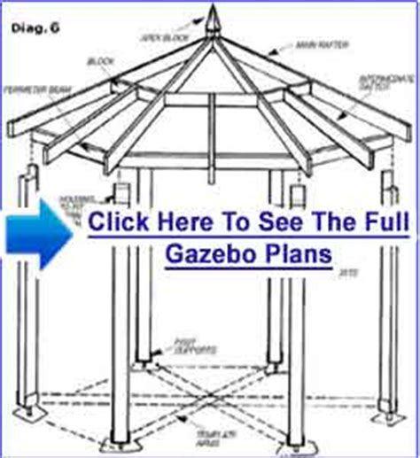 Gazebo Floor Plans Gazebo Plans For Sale Blueprints To Meet All Your Needs