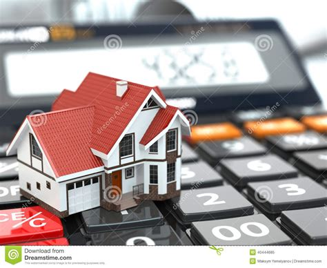 house on mortgage real estate concept house on calculator mortgage stock illustration image 40444685