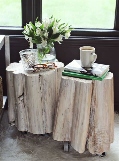 tisch aus baumstamm coole m 246 belst 252 cke der natur - Näh Raum Tische