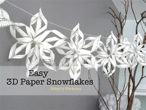 How To Make A Big Paper Snowflake - easy 3d origami paper snowflake tutorial