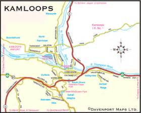 kamloops canada map columbia maps city of kamloops bc map thompson
