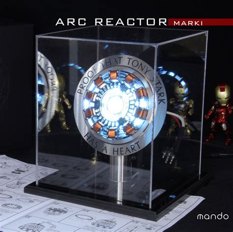marvel avengers iron man arc reactor led light
