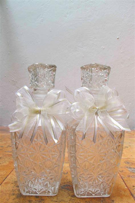 recuerdos para boda bautizo xv a 241 os primera comunion 18 00 en mercado libre como decorar una licorera para bautizo 12 licoreras de cristal recuerdos para boda xv a 241 os