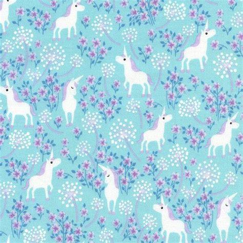 unicorn pattern fabric pretty unicorns aqua c2512 timeless treasures fabric