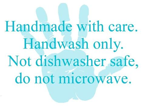 Handmade With Care - free printable care cards not food safe htv washing