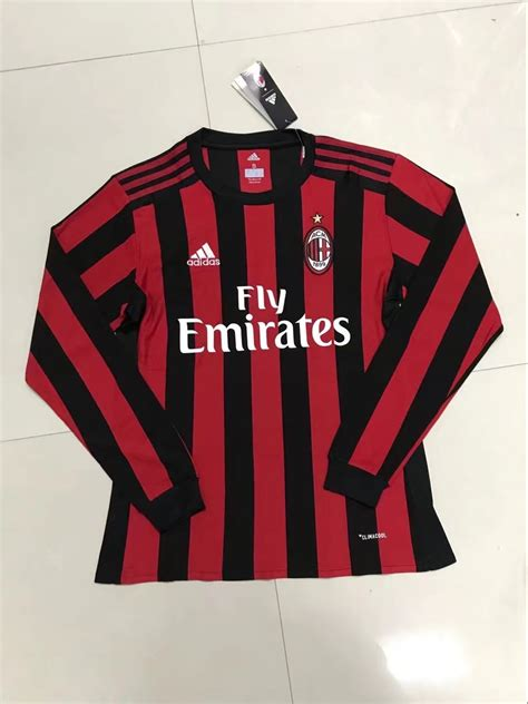 Jersey Ac Milan Home Sleeve Musim 2017 2018 ac milan 2017 18 home sleeve soccer jersey 1707131739 usd 27 88 cheap soccer jerseys
