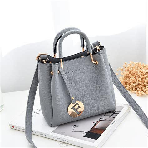 Scgtf Tas Tangan Handbags Tas Hitamtas Gray Tas Metalictas Impor ttp085 grey