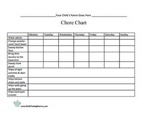 6 best images of make my chore charts free printable