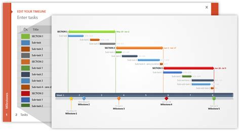 Office Timeline Using Excel For Project Management Gantt Timeline Template Excel