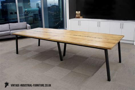 vintage industrial office table