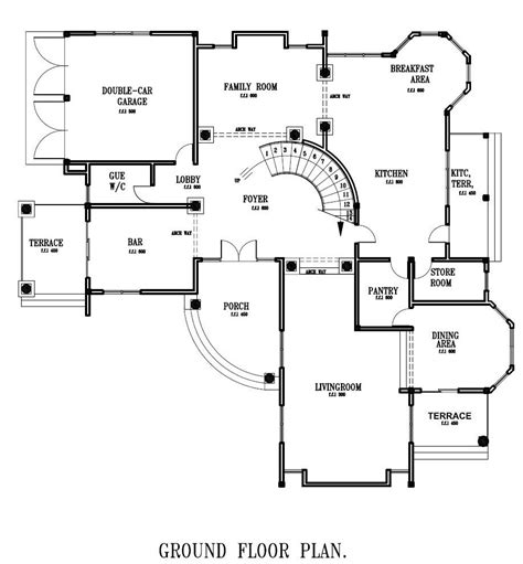 ground floor plan for home luxury house plans