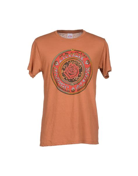 T Shirt Brown 01 lyst obey t shirt in brown for
