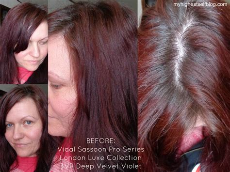 deep velvet violet hair dye african america review with before and after photos vidal sassoon pro