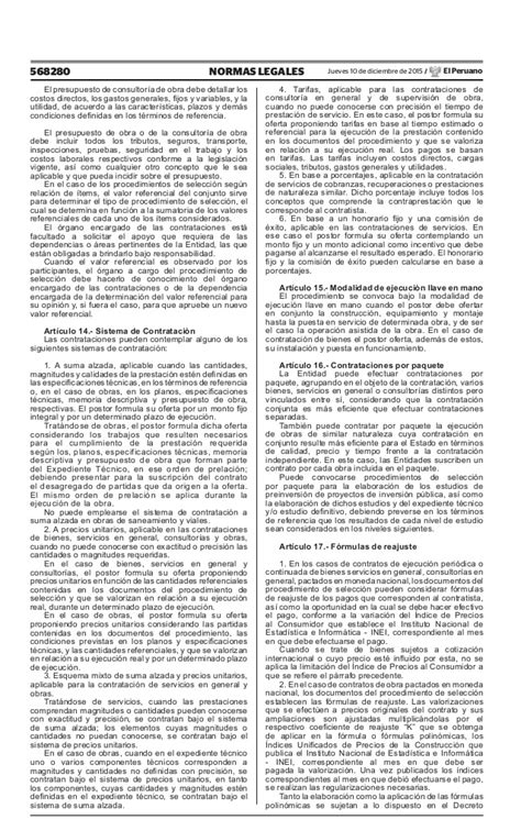 decreto supremo n 220 2015 ef que modifica el reglamento reglamento de la ley n 186 30225 ley de contrataciones del