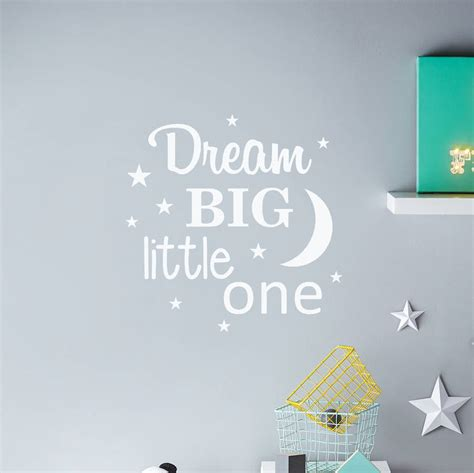 Yellow And Purple Bedroom dream big little one wall sticker by nutmeg