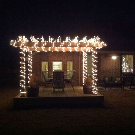 Christmas Lights On Our Pergola Viki Wedding Pinterest Lights On Pergola